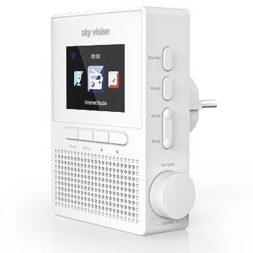 Sky Vision Steckdosenradio IR 61 W U2013 Internetradio Mit Wlan (Radio Für Die  Steckdose Mit