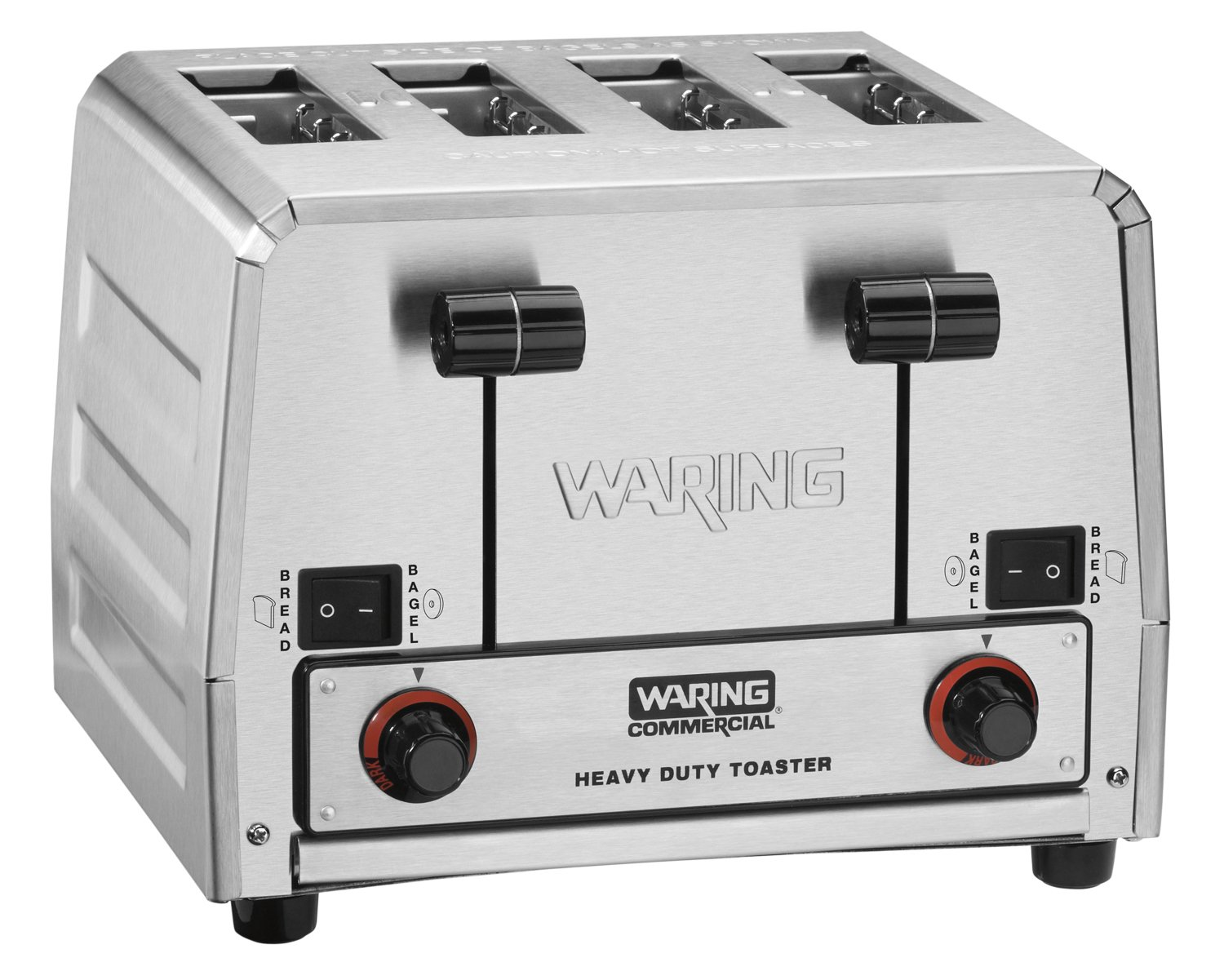 Waring Commercial WCT850 Heavy Duty Stainless Steel Switchable Combination 208-volt Toaster with 4 Slots