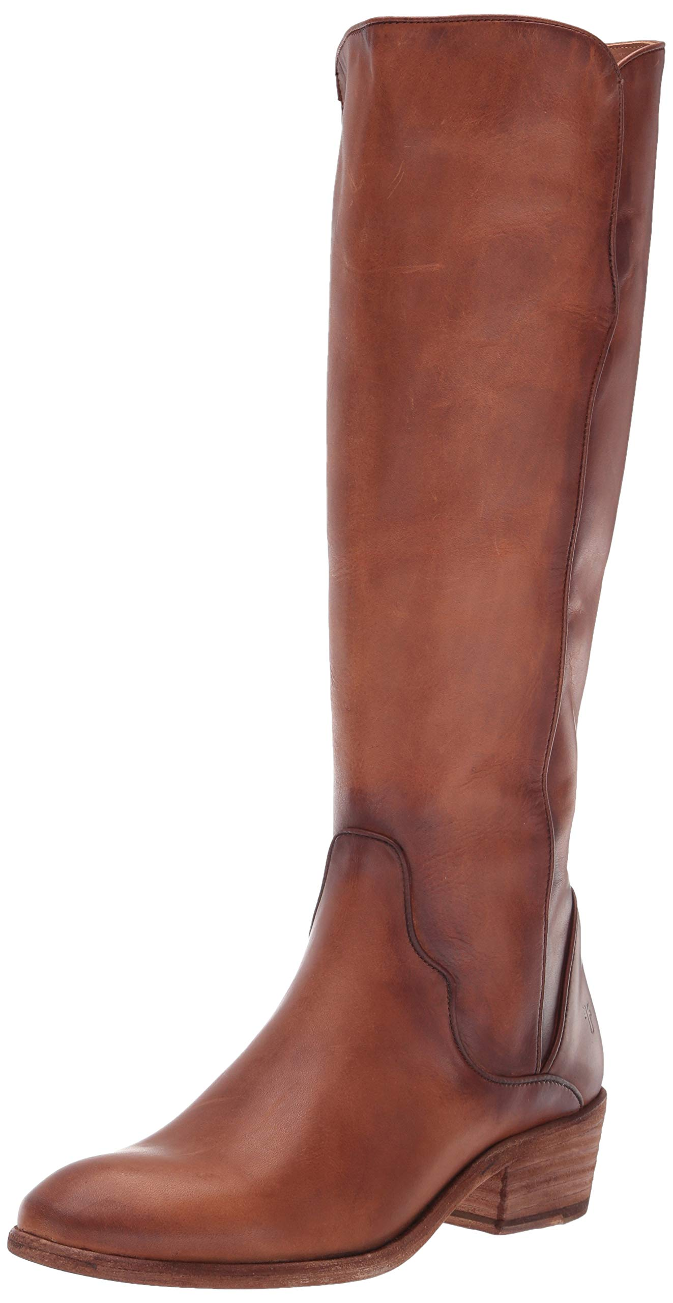 FRYE Women's Carson Piping Tall Knee High Boot, Caramel, 9.5 M US by FRYE