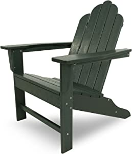 "POLYWOOD ECA15GR Long Island Adirondack Chair, Height: 38.50"" - Width: 31.25"" - Depth: 33.75"", Green"