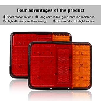 Powstro, 2 packs de 30 bombillas LED para faros traseros, impermeables 12 V, bombillas de camión.: Amazon.es: Iluminación