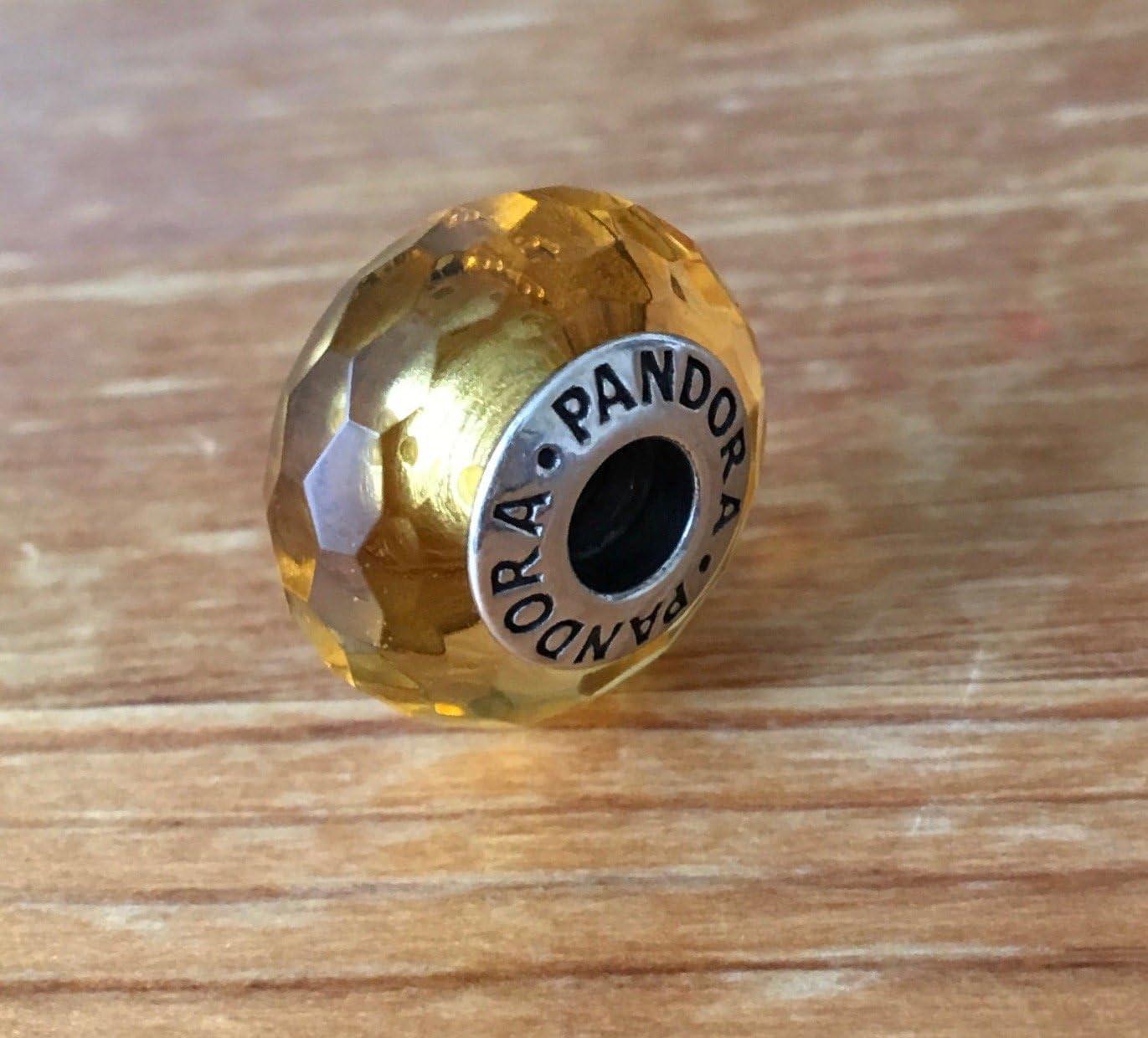charm pandora murano jaune