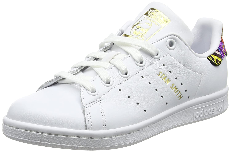 Adidas Stan Smith W, Zapatillas de Deporte para Mujer 38 EU Blanco (Footwear White/Footwear White/Footwear White 0)