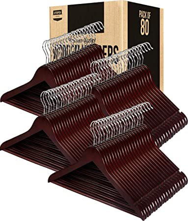 Amazon.com: Utopia Home Premium - Perchas de madera para ...