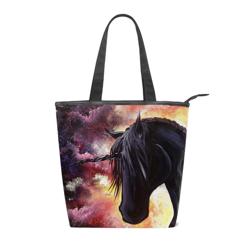 Black And White Printing Canvas Shoulder Bag Retro Casual Handbags Messenger Bags
