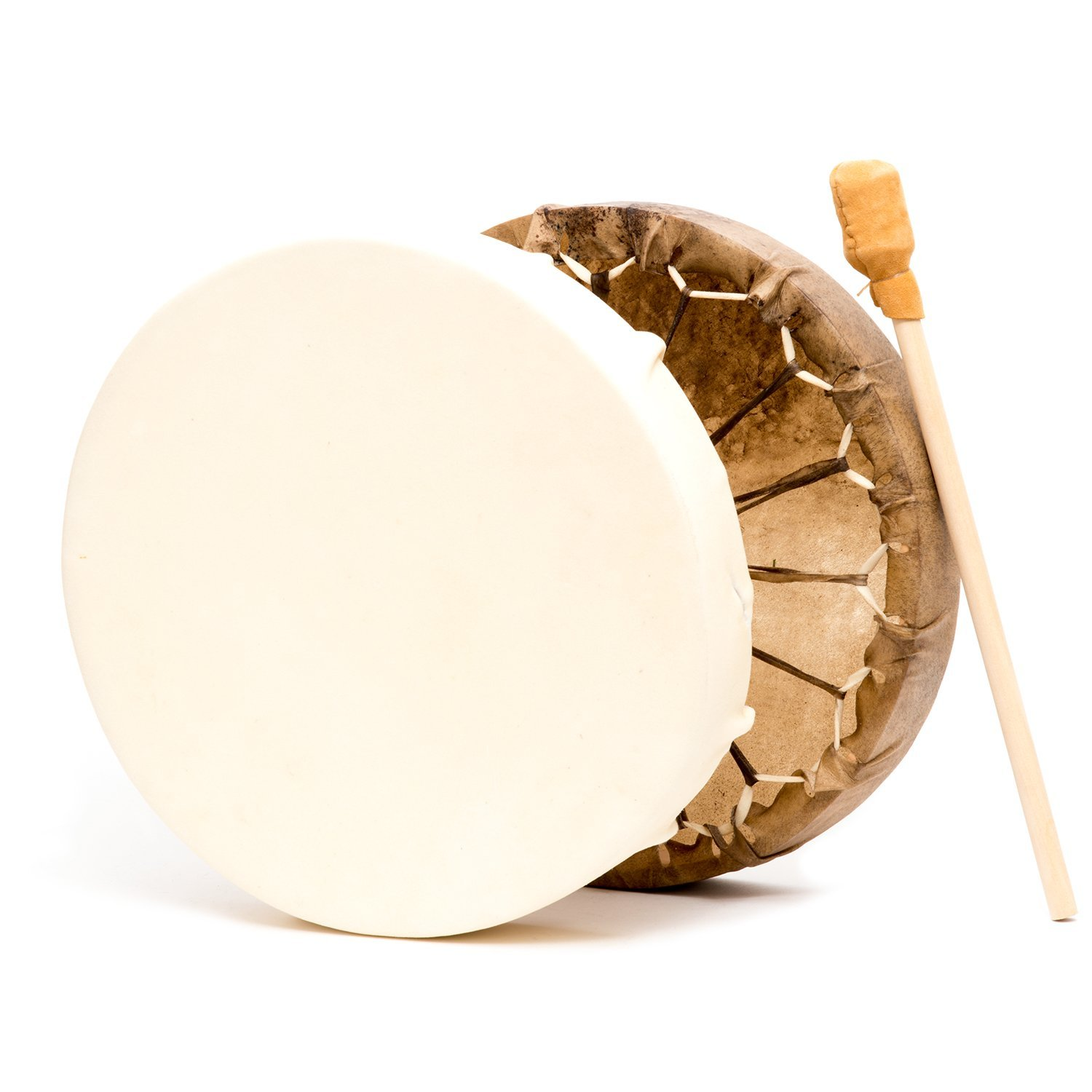 Native American Style 15 in. Cow Hide Frame Hand Drum