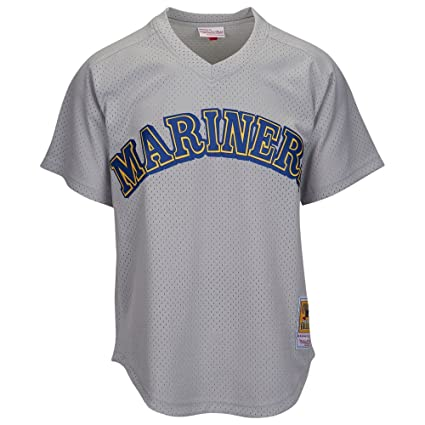 cheap for discount 97239 12bb6 Mitchell & Ness Seattle Mariners Ken Griffey Jr Grey Mesh Batting Practice  Jersey
