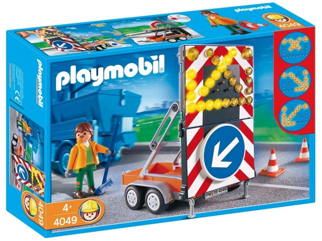 Playmobil 4049 Segnale stradale luminoso trasportabile Playmobil Italia S.r.l