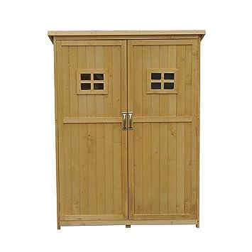 cobertizo de madera para jardn tipo caseta de jardinera para almacenaje de xxcm