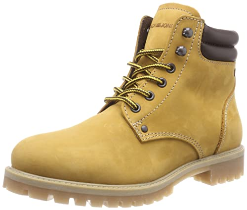 JACK & JONES Jfwstoke Boot Nubuck Honey Noos, Botas Militar para Hombre, Amarillo,