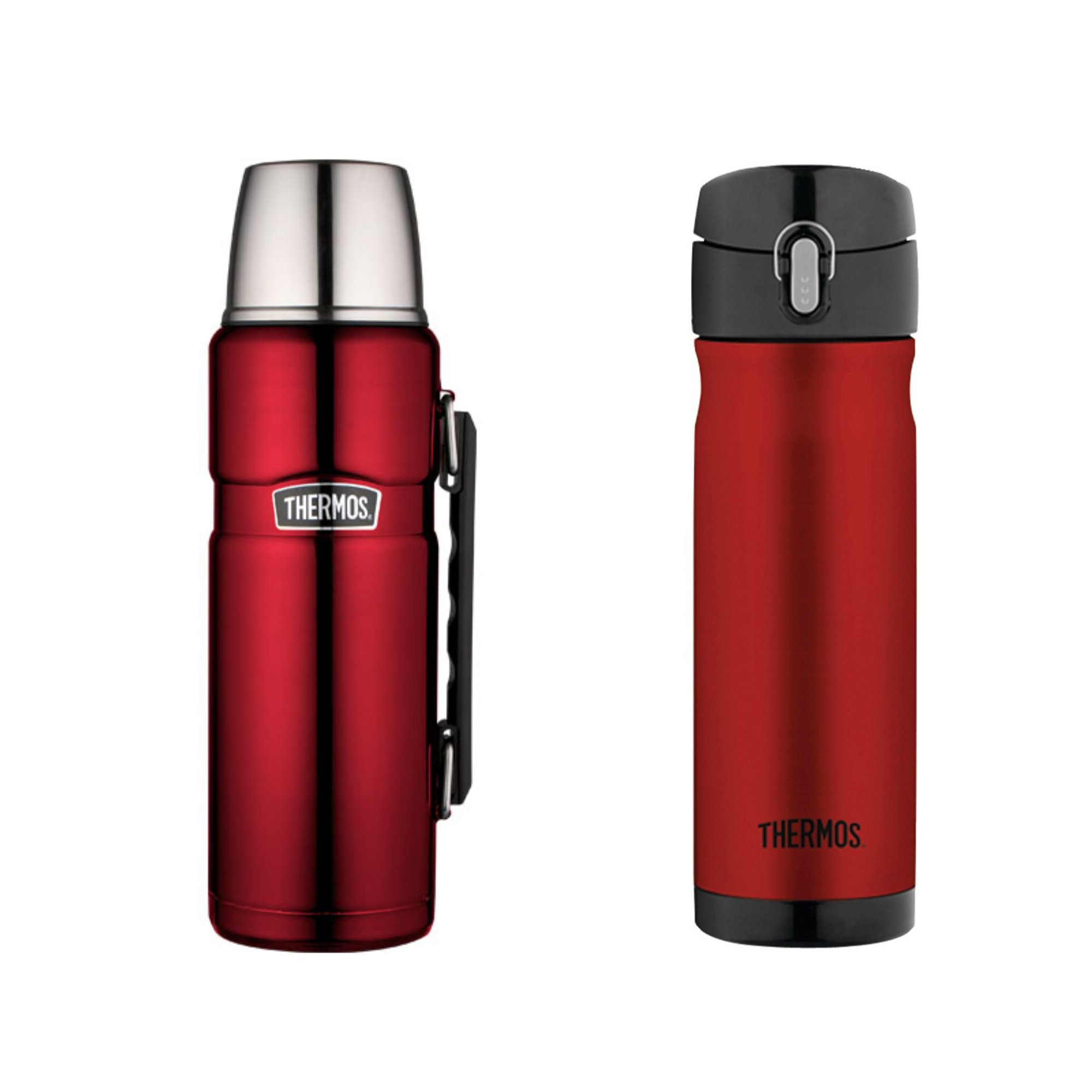 Thermos Stainless Steel Commuter Drink Bottle 16 and 40 Ounce - Cranberry