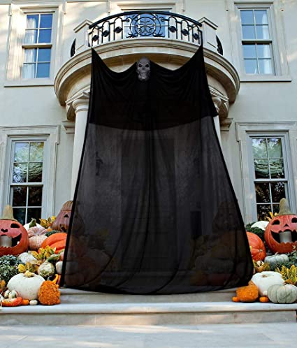 Image Unavailable - Amazon.com: 13.94ft Halloween Ghost Hanging Decorations Scary Creepy