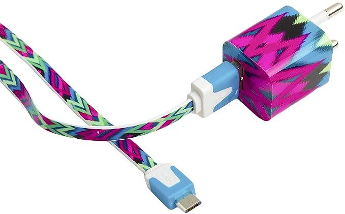 Enchufe movil cargador cable usb universal carga rápida 1A ...