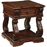 Signature Design by Ashley - Alymere Square End Table - Rustic Brown