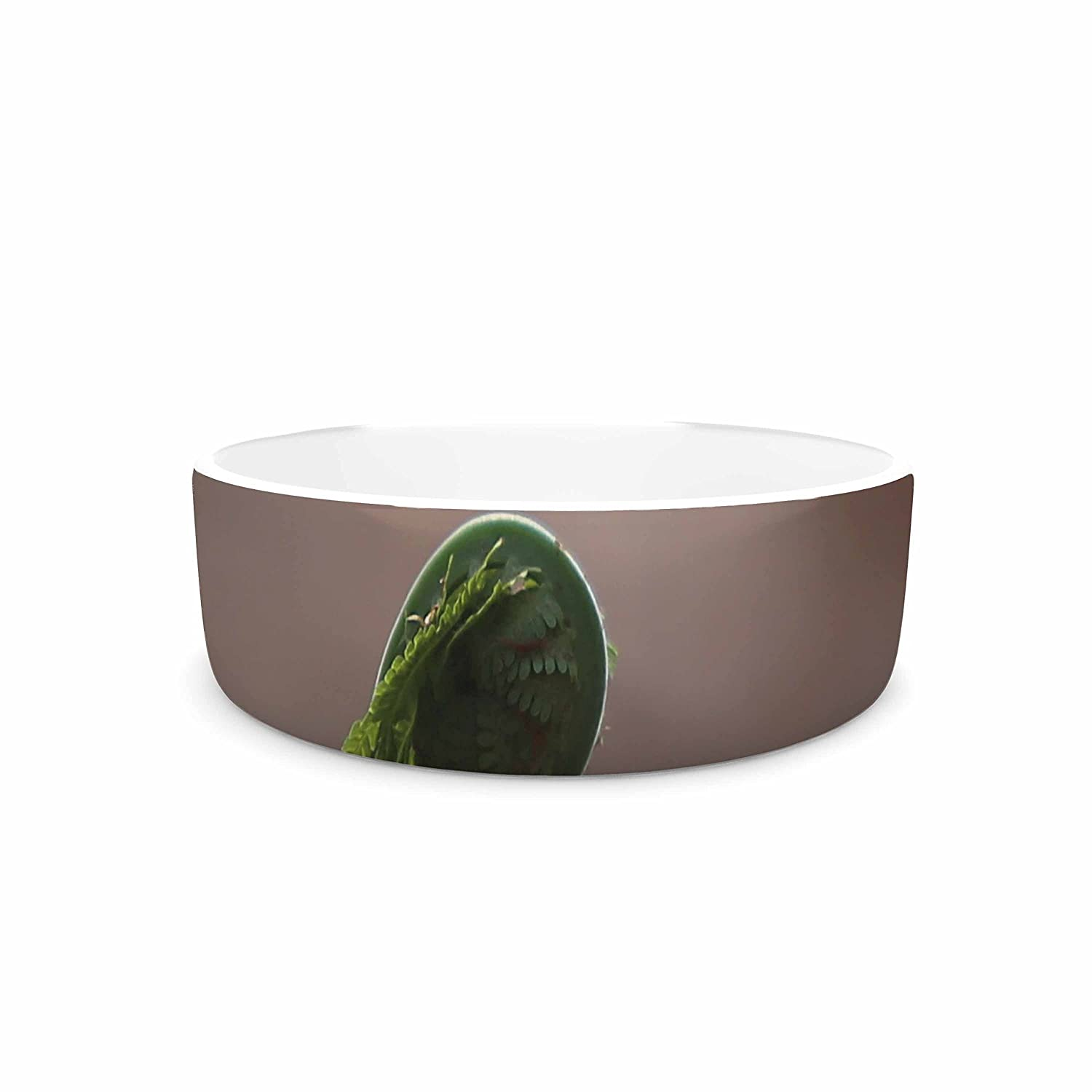 7\ KESS InHouse Angie Turner Fern Top -Green Nature Pet Bowl, 7