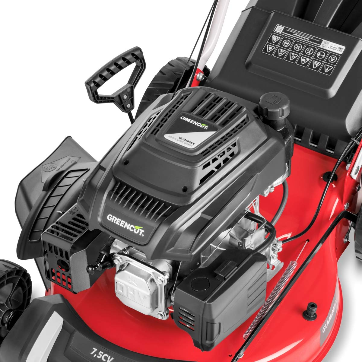 Greencut GLM880SX - Cortacésped autopropulsado con motor de gasolina de 218cc y 7,5cv y arranque manual Easy-Start, con un ancho de corte de 504mm (o ...