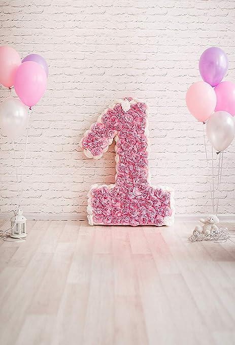 Kate 2.2x1.5m fondos fotografia cumpleaños 1 año rosa balón ...