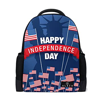 db9230bb77e5 Amazon.com: Fourth Of July Printed Laptop Backpack High School ...