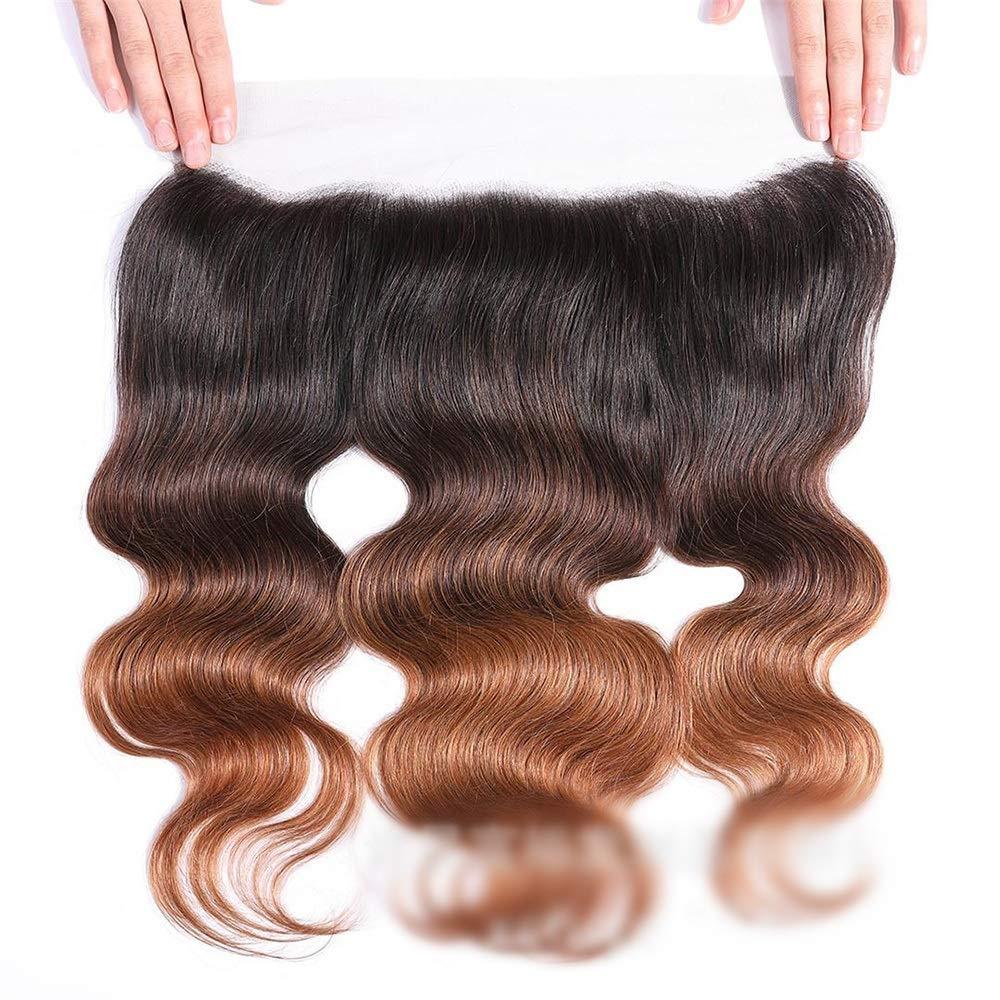 Yrattary 13x4レースの閉鎖ブラジルの実体波人間の髪の毛の自由な部分ブラウンナチュラル探して茶色のかつら長い巻き毛のかつら、 (色 : ブラウン, サイズ : 18 inch) B07QRP6G7T ブラウン 18 inch
