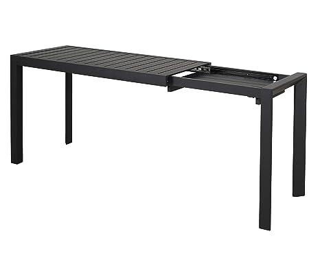 Chicreat - Mesa extensible de aluminio, 127-165 x 57 x 71,5 cm (negro)