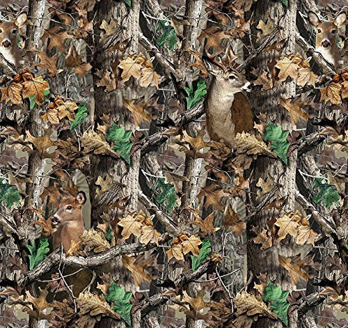 Realtree Camo Deer Camoflage Hunting Fleece Fabric by the Yard a1427s (Hunting Fleece Fabric)