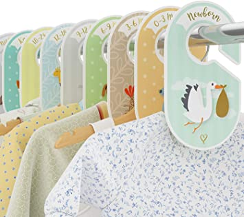 BABY SHOWER GIFT! BABY GIRL CLOSET RACK SIZE DIVIDERS