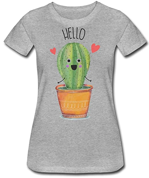 cad224a5b Finest Prints Cute Little Cactus Saying Hello Women's T-Shirt at ...