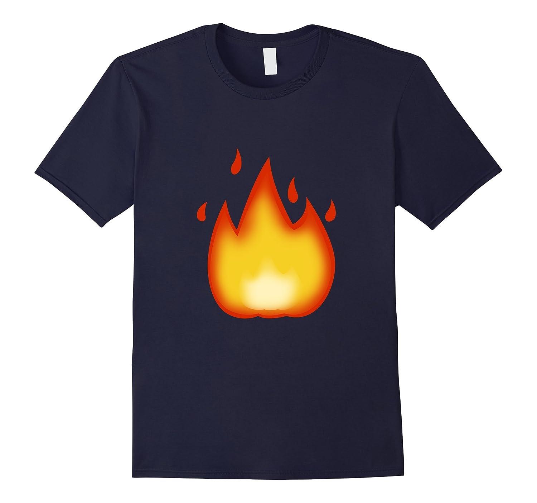 Emoji T-Shirt Fire, Flame Tee tshirt T SHIRTS-FL