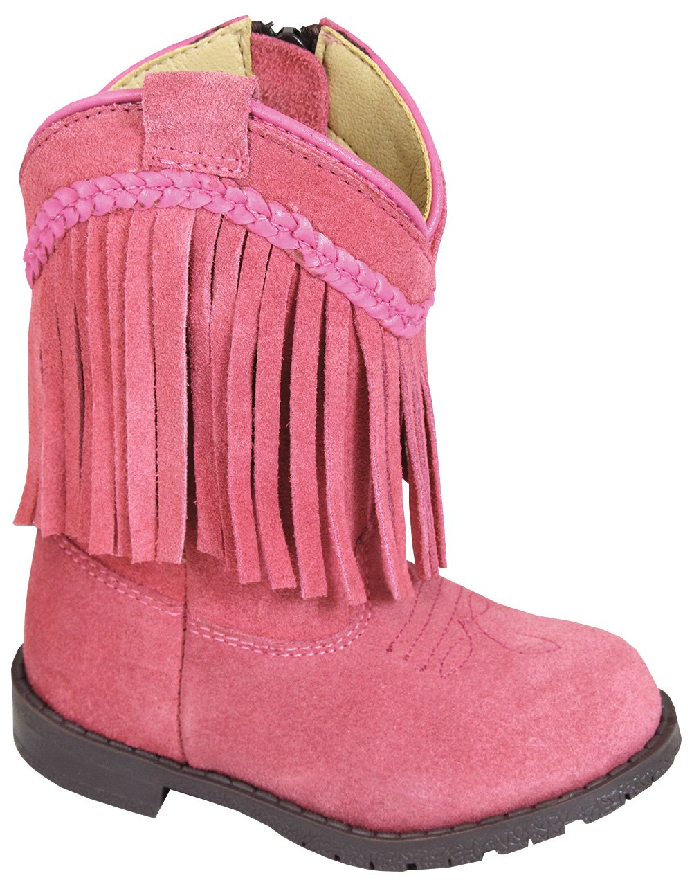Smoky Mountain Toddler Western Hopalong Pink Fringe Zip Boot, 4M