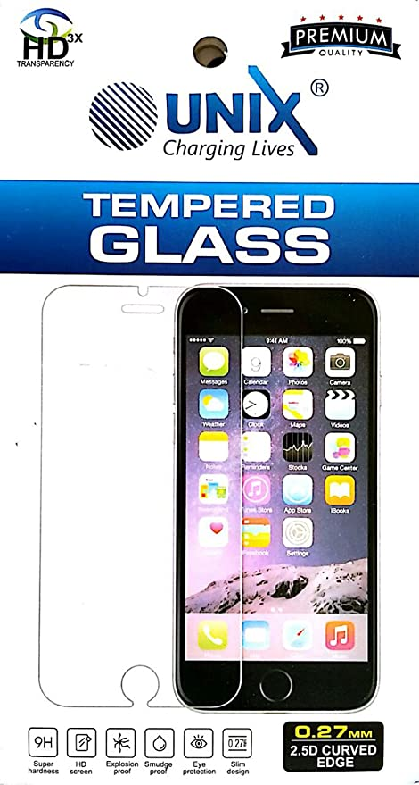 Unix Tempered Glass Screen Guard Protector For Oppo A37/A37fw