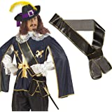Espada Soporte Piratas aqyaa03000imitación de piel de espada de mosquetero Cinturón corsario Arma Mar Ladrones Espada Cinturón Medieval Cinturón accesorio Disfraz de carnaval para accesorios