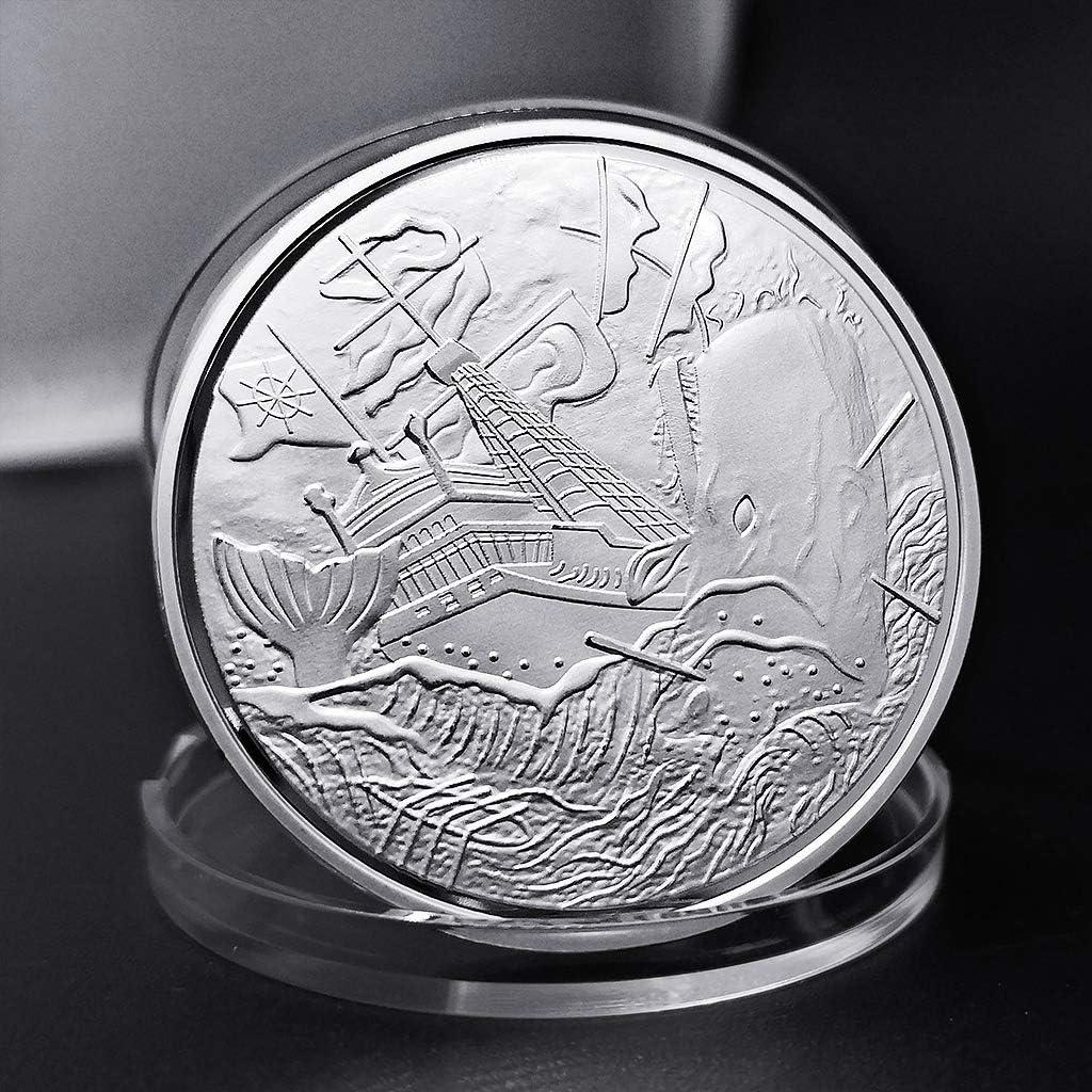 sharprepublic Fluch Der Karibik Black Pearl Coin Gedenkm/ünzen Requisiten Souvenir