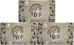 Grab Green Stoneworks Dryer Sheets, Naturally-Derived & Compostable, Free of Wax & Animal-Derived Ingredients, Birch Branch, 50 Sheets, 3-Pack