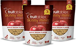 product image for Fruitables Soft and Chewy Skinny Minis 12 Ounce Apple Bacon Low Calorie Grain Free Dog Training Treats