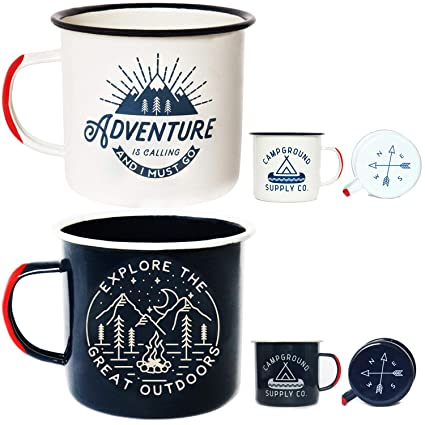 Campfire Mug LoveMorning Coffee455mlTin Camping 2 Adventure OutdoorsBreakfast 16oz For Enamel Travel Pack Large Of Wanderlust Cup myNO8nvw0