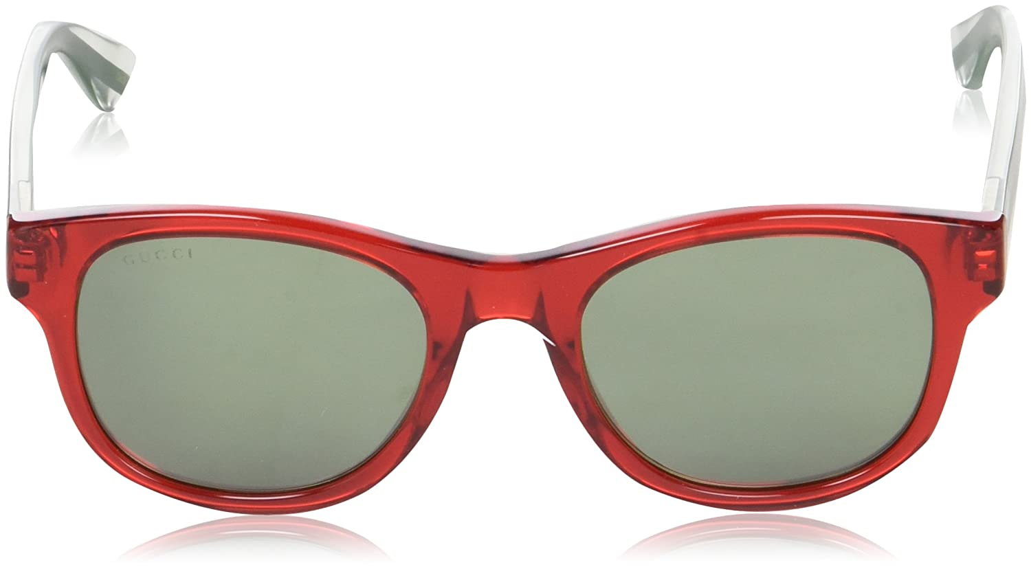Mens GG0003S Sunglasses, Red-Crystal-Silver, 52 Gucci