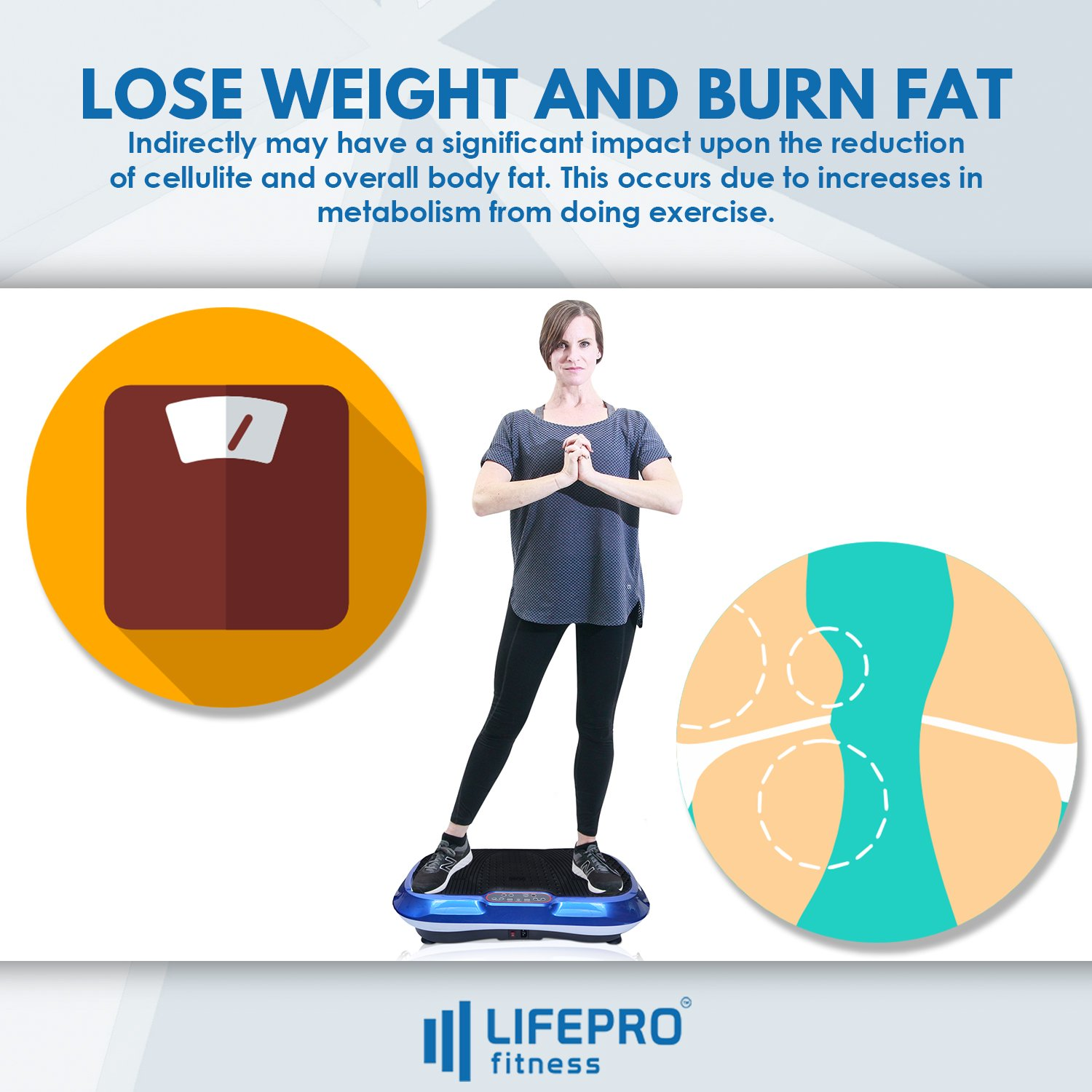 LifePro Vibration Plate Exercise Machine - Whole Body Workout Vibration Fitness Platform w/Loop Bands - Home Training Equipment for Weight Loss & Toning - Remote, Balance Straps, Videos & Manual by LifePro (Image #3)