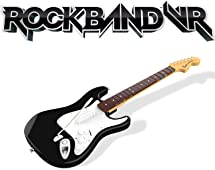 Rock Band VR Game + Guitar Controller (PlayStation 4 Version) Bundle for Oculus Rift
