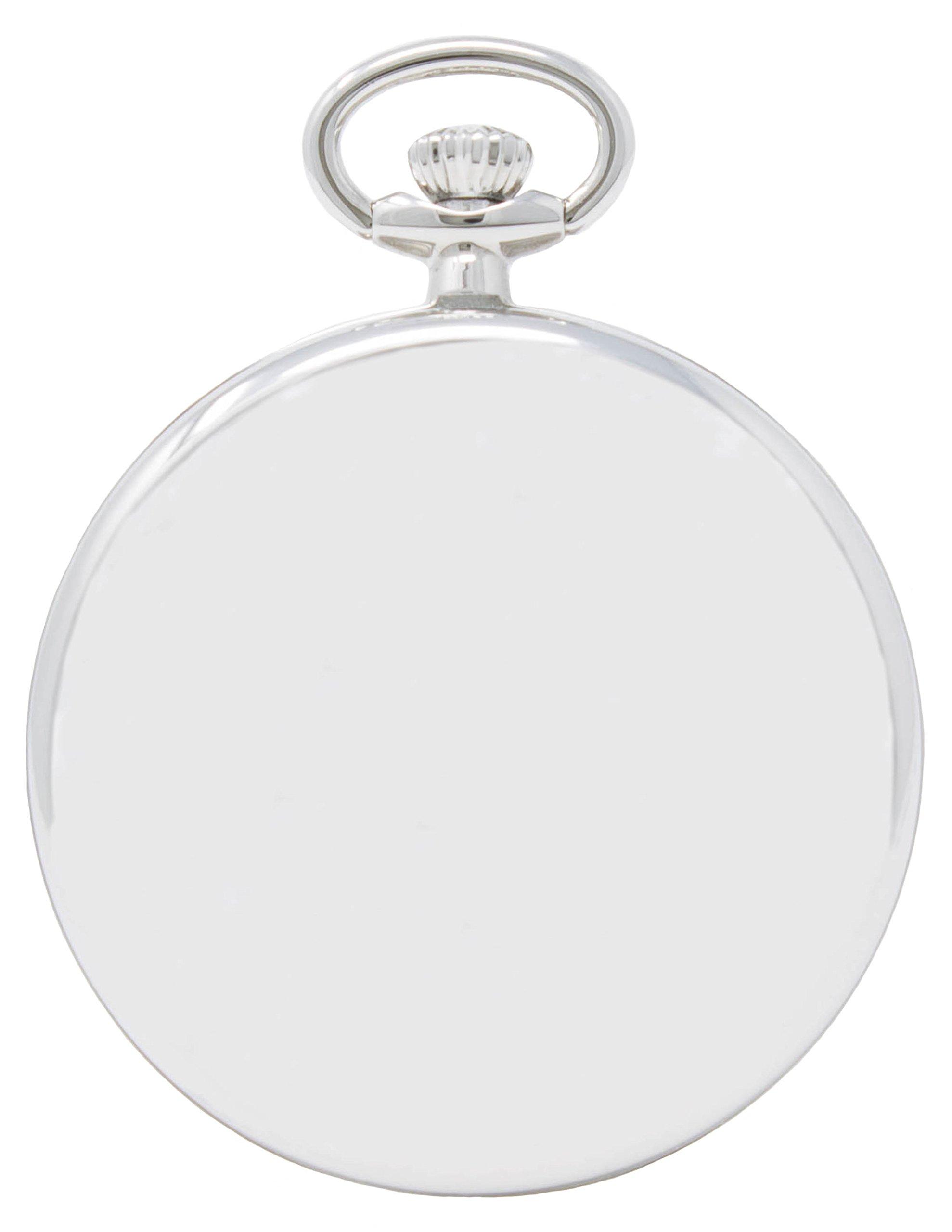 Engravable pocket watch by Dakota, Silver by Dakota (Image #2)