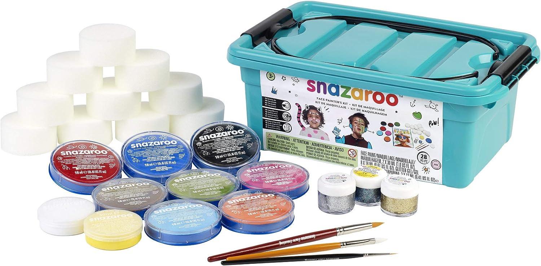 Snazaroo - Pintura facial y corporal, kit de 28 piezas: Amazon.es: Juguetes y juegos
