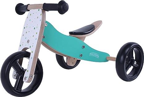 MATTI Bicicleta 2 en 1 Triciclo y bicicleta de madera, vehículo ...