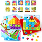 KIDCHEER Arts and Crafts for Kids, Color Matching Mosaic Pegboard Early Learning Educational Peg Puzzle Toys for Boys…