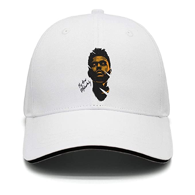 Amazon.com  The Weeknd Looking Cool Unisex White Baseball Hat for ... e8cb6f6c62f