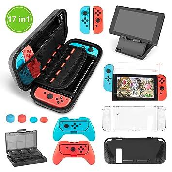 Younikoo Kit Accesorios para Nintendo Switch - Funda con patrón de Hormiga para/Funda Donde caben Tarjetas de Juego/Funda de Silicona/Funda de TPU ...
