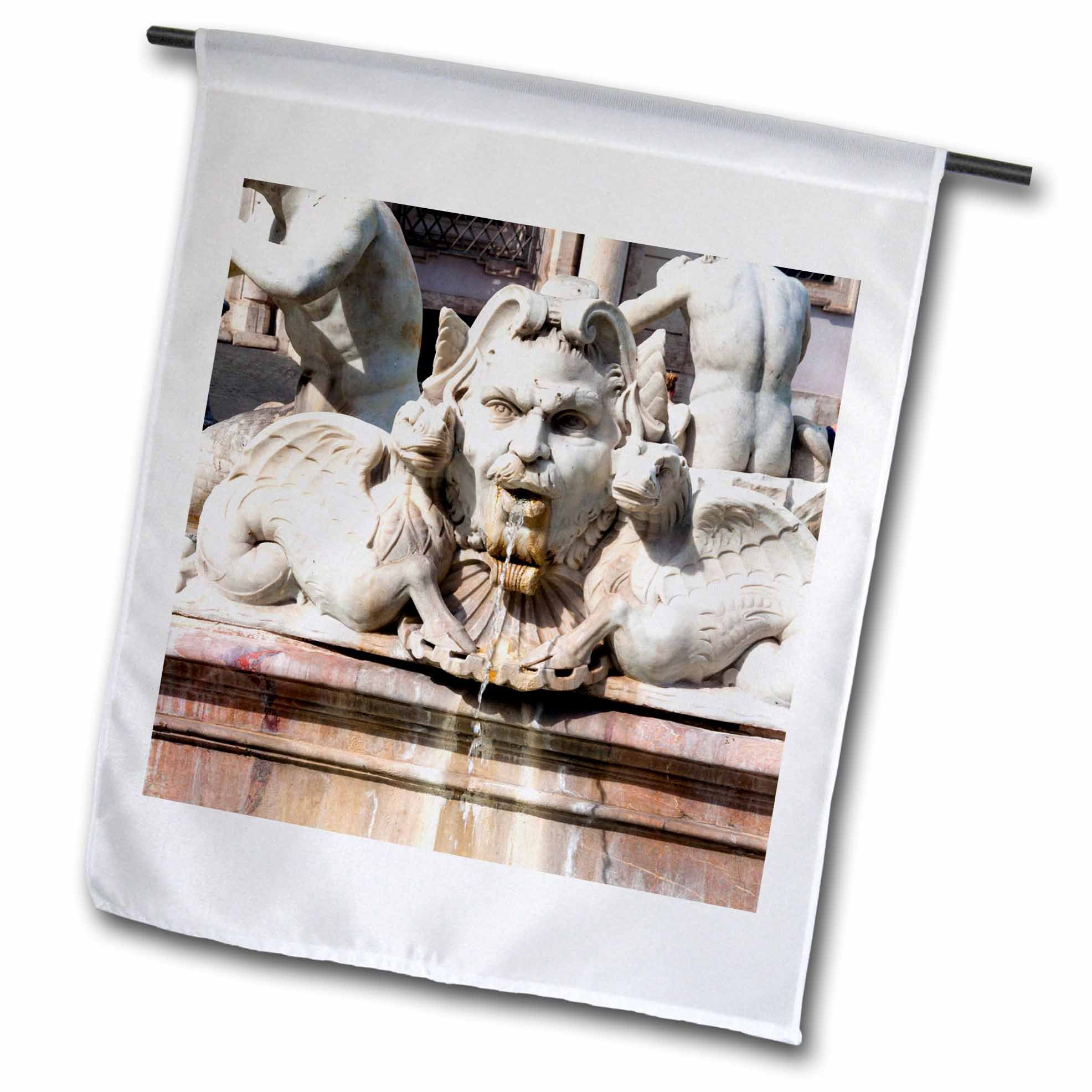 3dRose Danita Delimont - Fountains - The Moor Fountain, Piazza Navona, Rome, Latium, Italy - 18 x 27 inch Garden Flag (fl_277631_2)