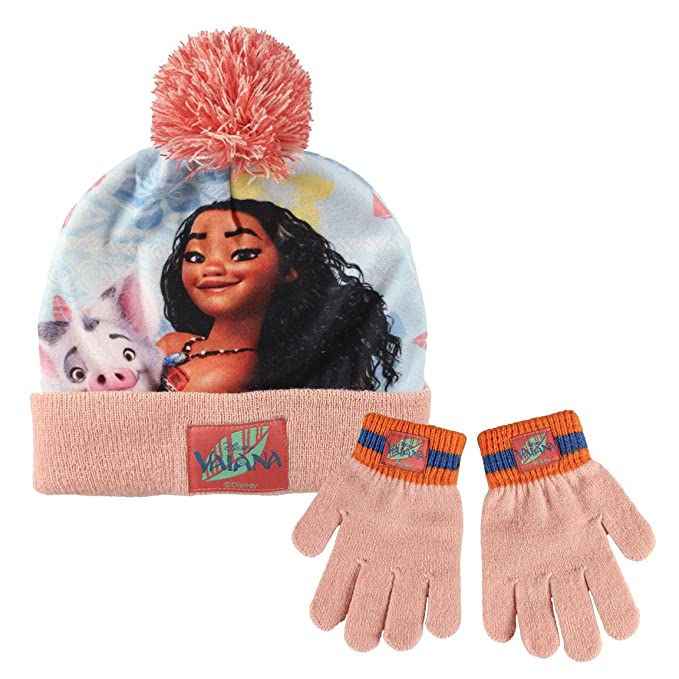 Disney Moana 2200-1864 Childrens Winter Set, Beanie Hat With Pompon    Gloves, Acrylic, One Size, Multicolored  Amazon.co.uk  Toys   Games 3a46fdce6d1