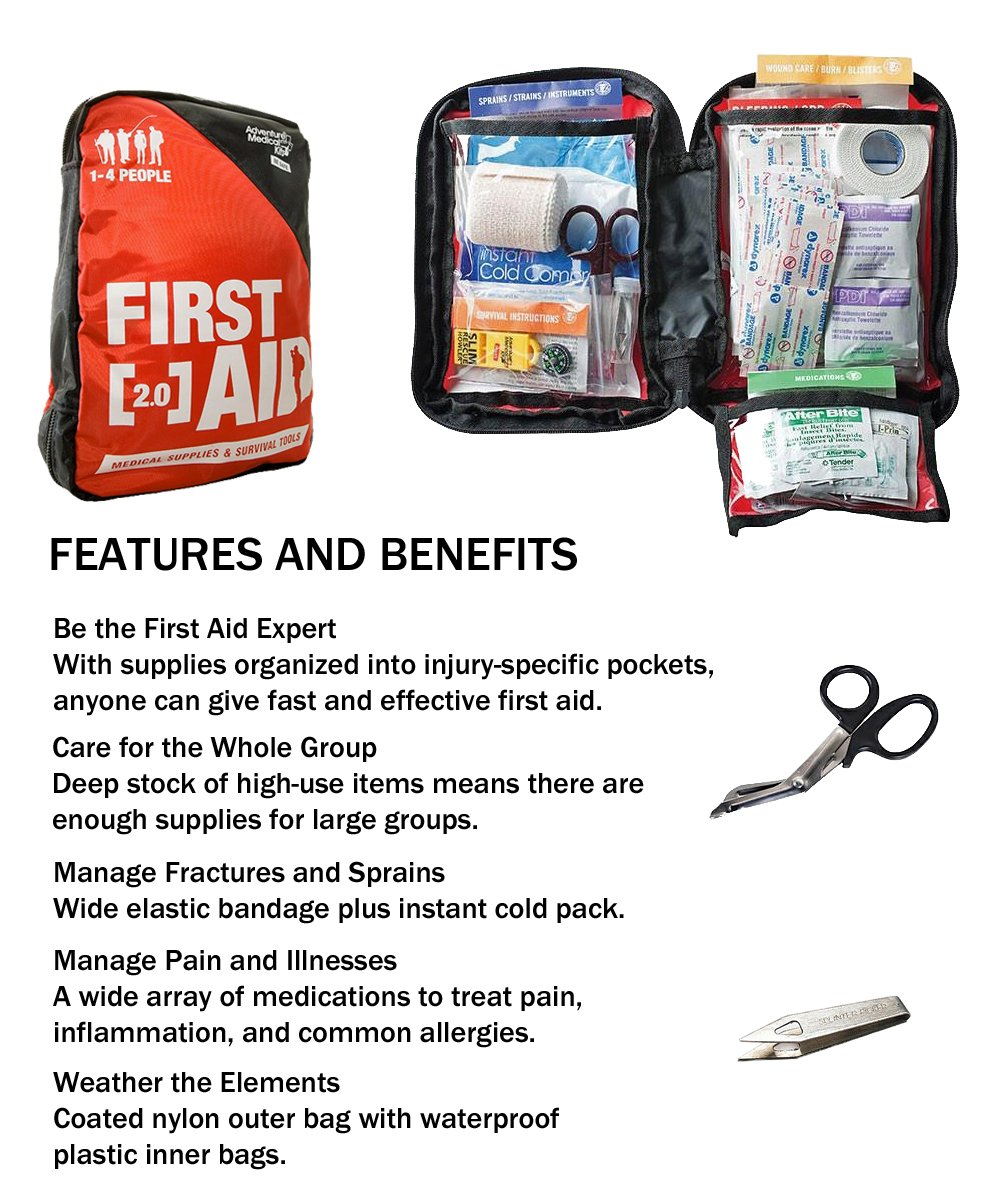 Combo Survival Kit Four For Earthquakes, Hurricanes, Floods, Tornados, Emergency Preparedness by Zippmo Survival Gear (Image #4)