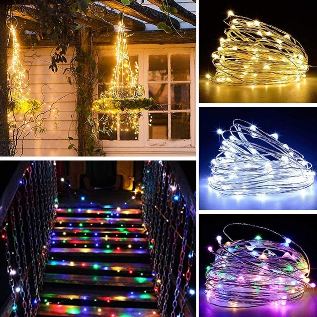 Festivals Home Party Decor Lights Warm White with Timer Function USB Plug in 12 Lighting Models MSKJ Waterproof 16.4ft 50led Fairy Lights Fairy Lights Music Sync Twinkle String Lights