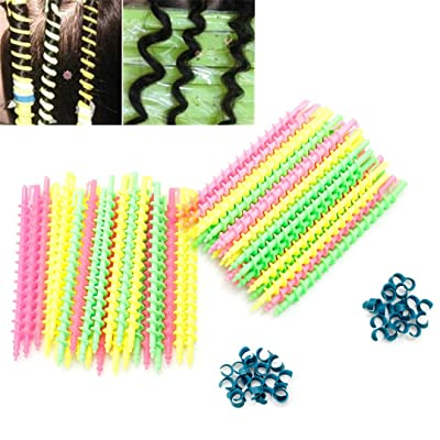 26Pc Plastic Long Styling Barber Salon Tool ing Spiral Hair Perm Rod Small