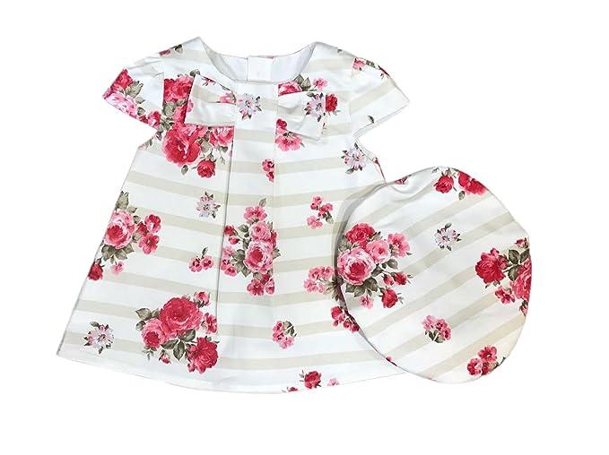 0451b87a460 Robe et chapeau à motif coton - écru - bébé fille  Amazon.fr ...